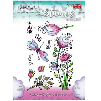 Polkadoodles Time To Bloom Stamps