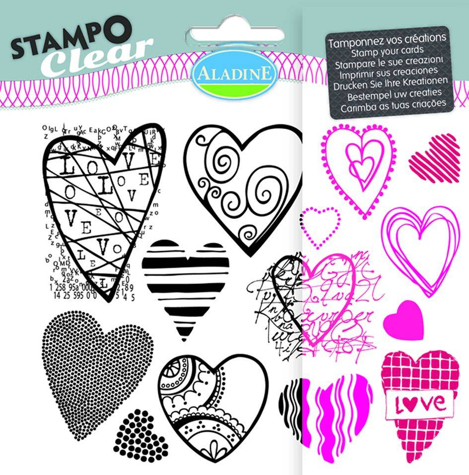 Aladine hearts Stamps - Stampo Clear