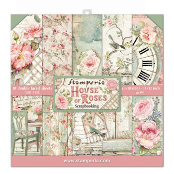 Stamperia House of Roses 12 x 12 Paper Pad