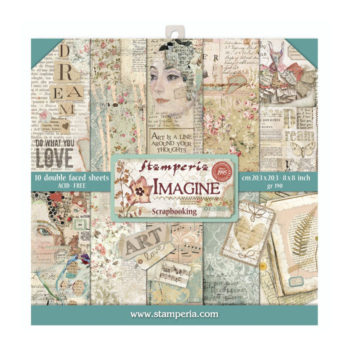 Stamperia Imagine 8 x 8 Paper Pad