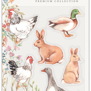Farm Meadow Animals Clear Stamp Set