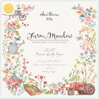 Farm Meadow 12 x 12 Paper Pad from Craft Consortium