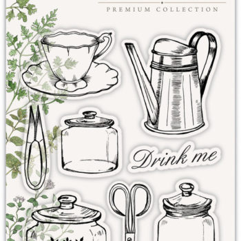 The Herbarium Collection stamp set - Utensils