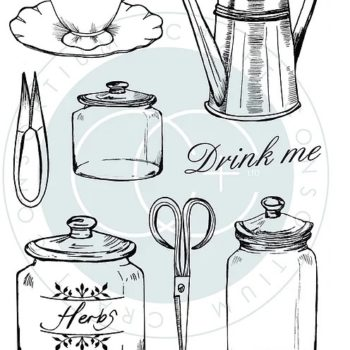 Utensils clear stamps from The Herbarium Collection