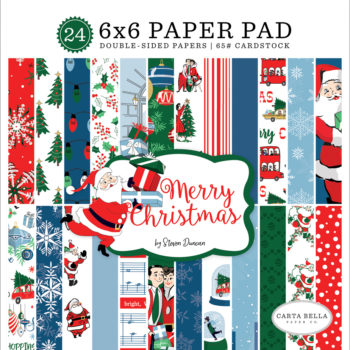 Merry Christmas 6 x 6 paper pad from Carta Bella