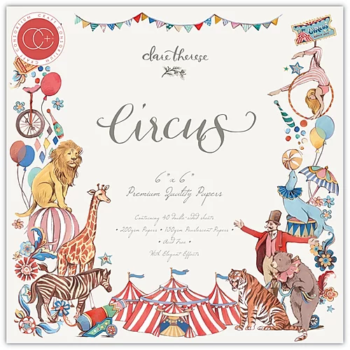 "Circus 6 x 6"" Premium paper pad - Circus craft collection"