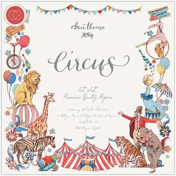 "Craft Consortium Circus 12 x 12"" paper pad and craft collection"