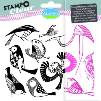 Stampo Clear Birds stamp set by aladine