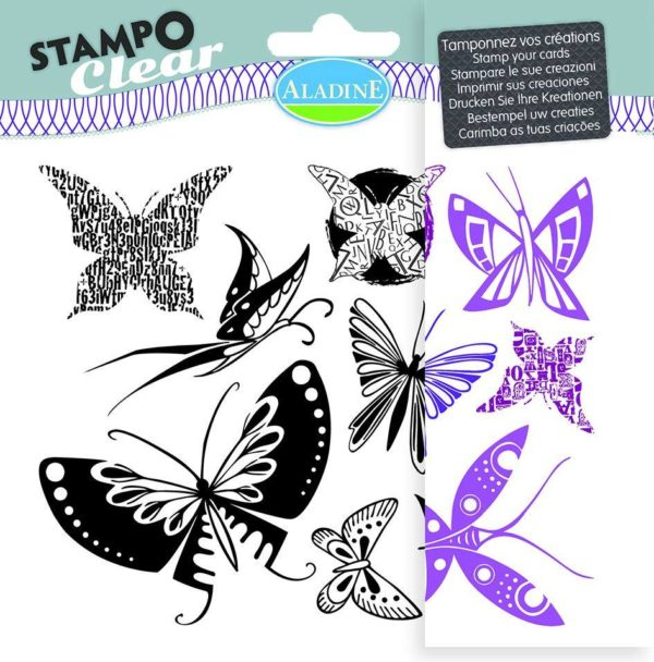 Stampo Clear Butterfly stamp set by aladine