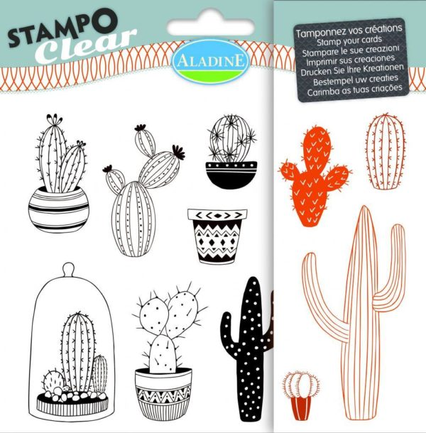 Stampo Clear Cactus stamp set by aladine