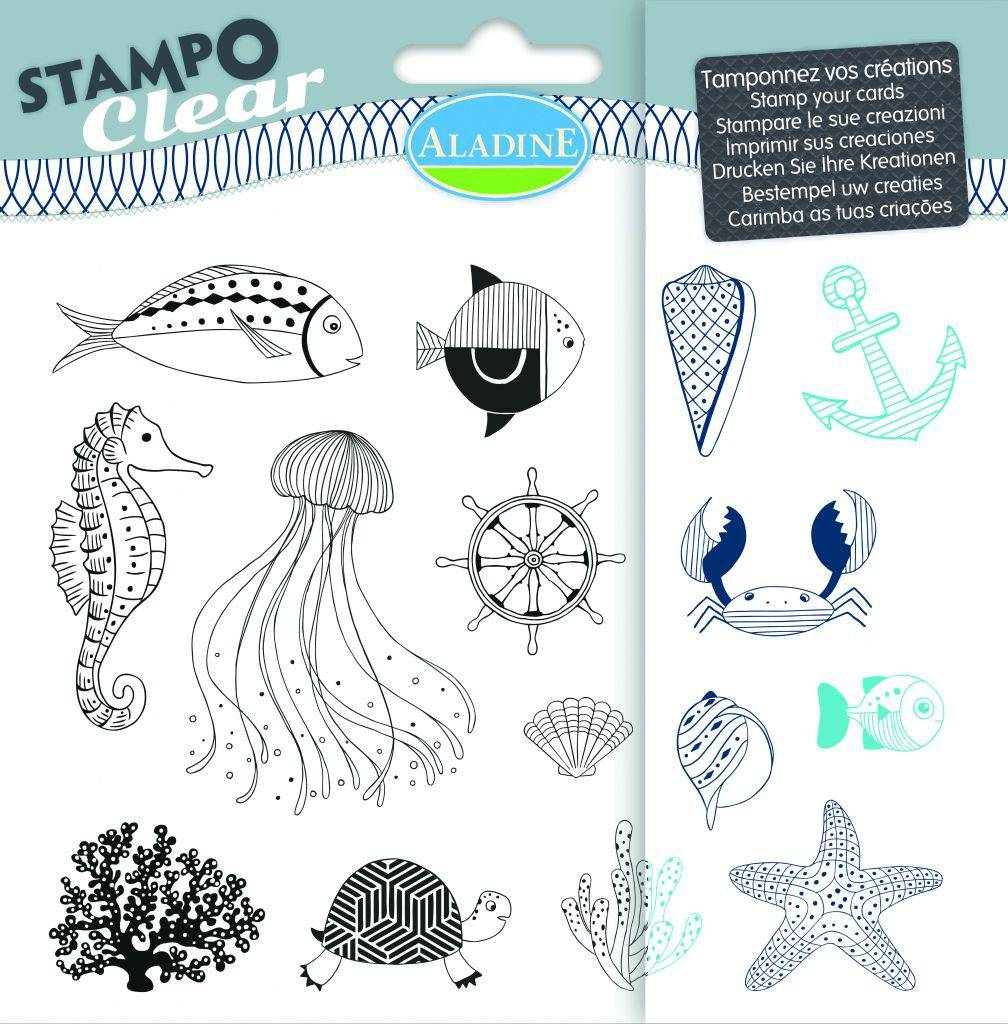Stampo Clear Fish stamp set by aladine