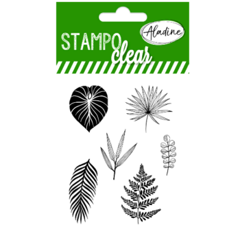 leaves stamp set by aladine