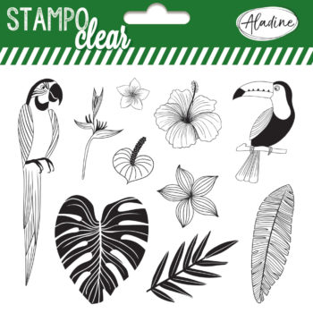 Stampo Clear Jungle stamp set by aladine