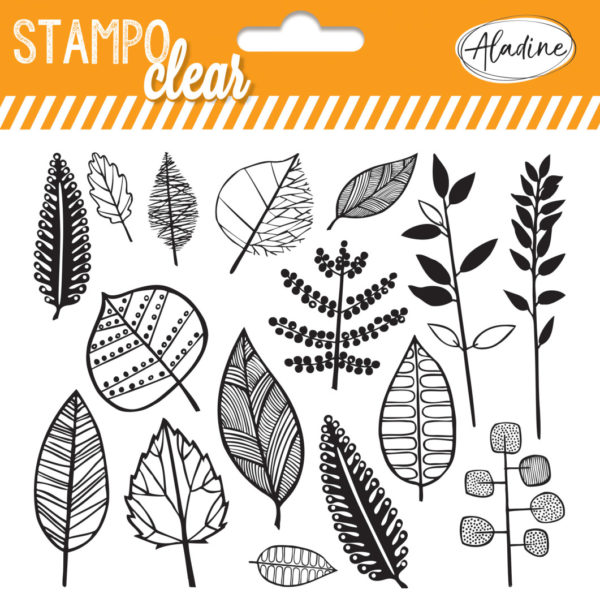 Stampo Clear Leaves stamp set by aladine