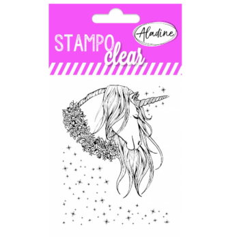unicorn stamp set by aladine