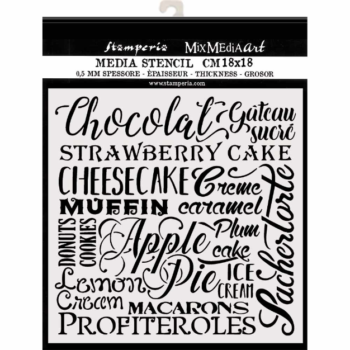 Stamperia Chocolate Stencil